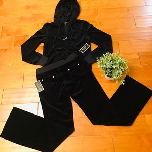 Juicy Couture velour hoodie and pockets pant
